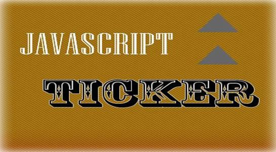 JavaScript Ticker for Database Values