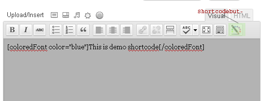 How to set ShortCode Button