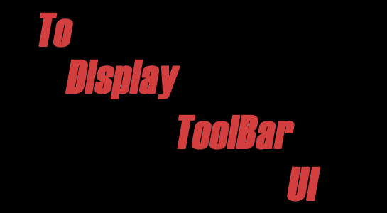 How to display ADMIN Toolbar in UI?