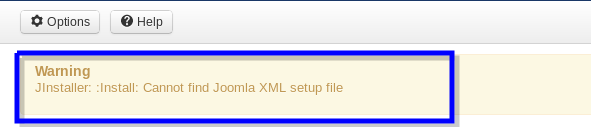 Cannot find Joomla XML Error