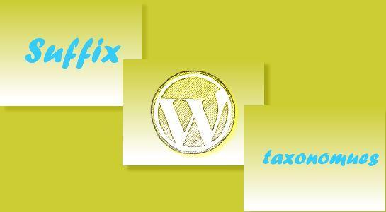 Remove suffix from taxonomies in Wordpress