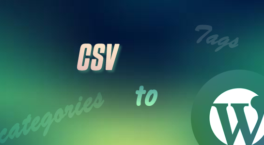 To import terms from csv in wordpress
