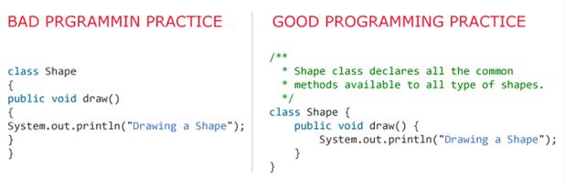 Best programming practice