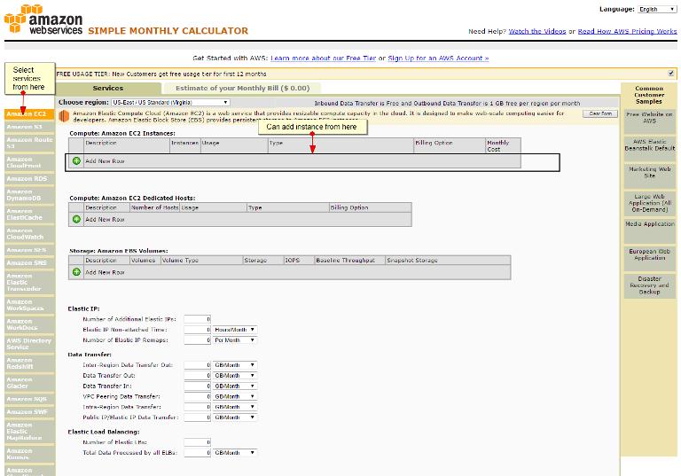 AWS price calculator - Amazon Web Services
